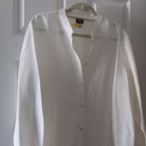 EILEEN FISHER XL LINEN/SILK BLEND SHIRT